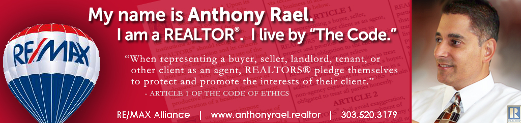 Native Denver Area Real Estate Agent & Relocation Specialist RE/MAX Alliance Arvada - Anthony Rael, Denver Realtor